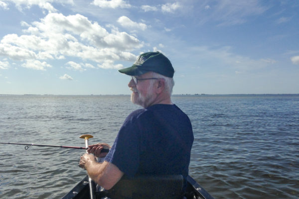 Roger canoeing Upper Tampa Bay