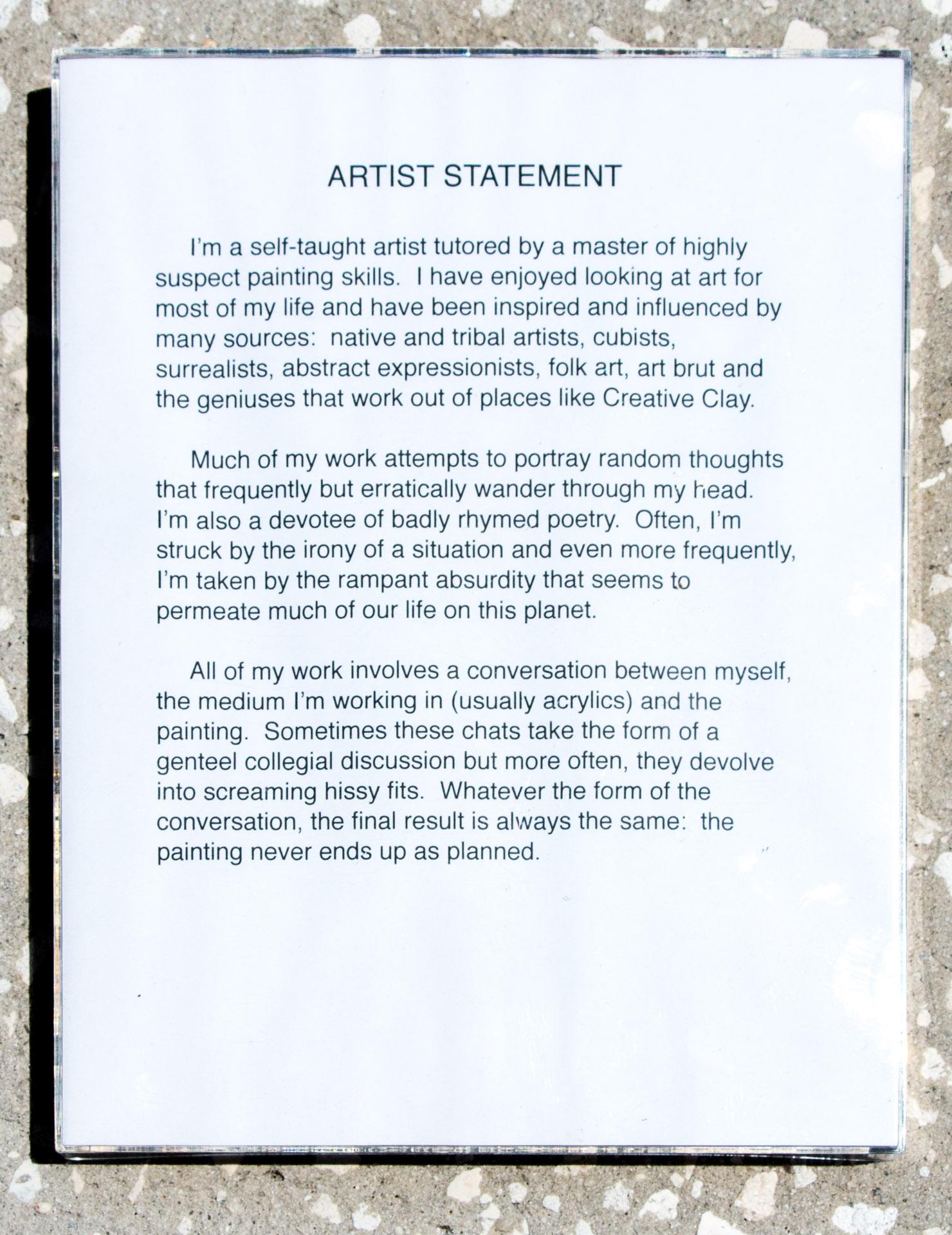Roger Allen Artist Statement