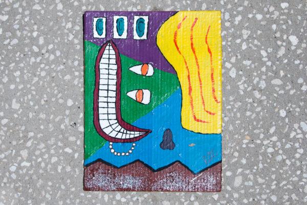 Roger Allen Cubist Face