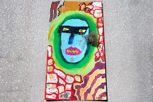 Roger Allen Moss Blue Face