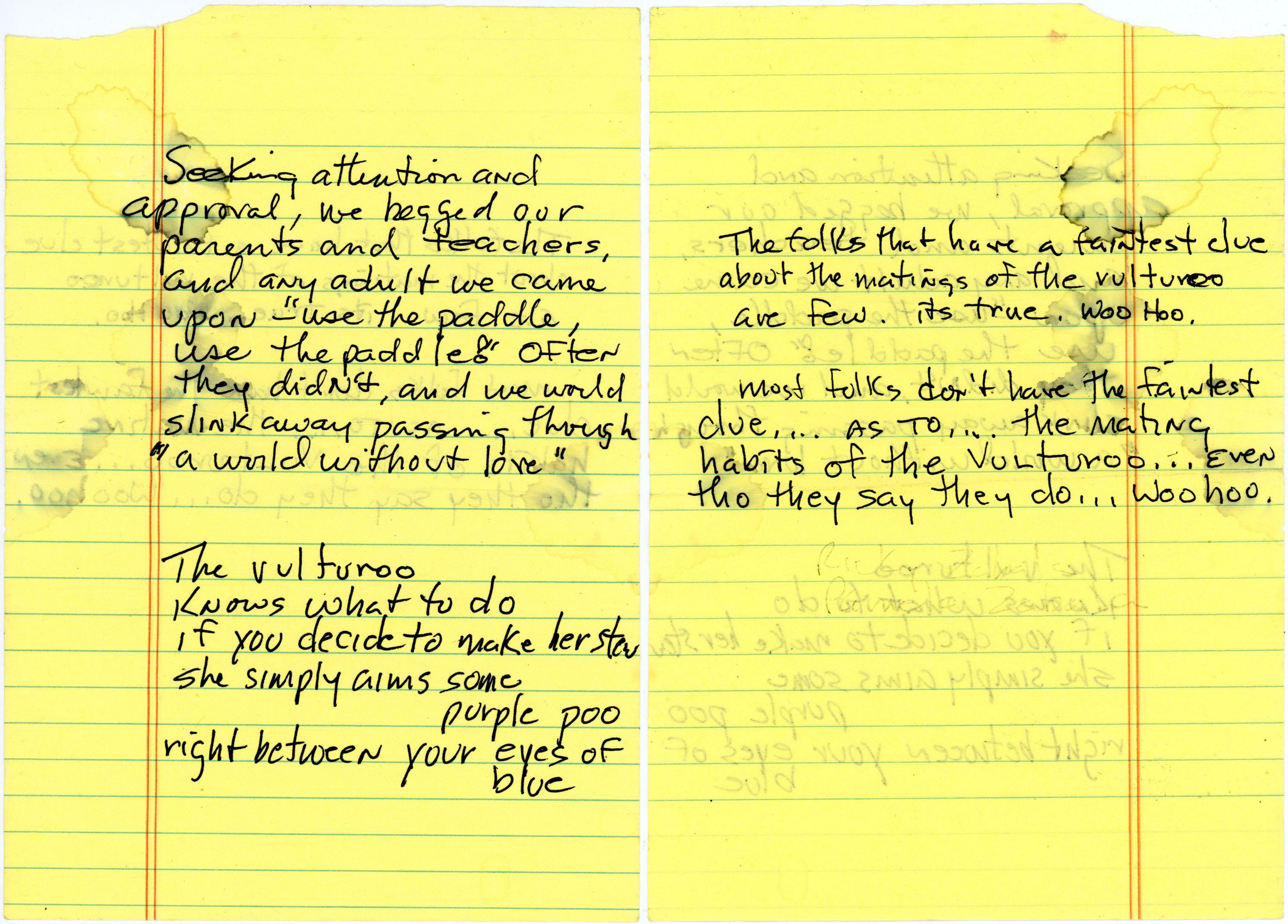 Roger Allen Vulture Poem