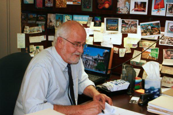 Roger at desk