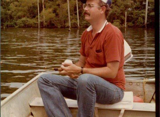 Roger Allen fishing, 1980s